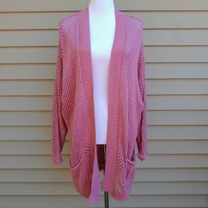 Arizona Jean Co| Cardigan Sweater Pink Long Slouch